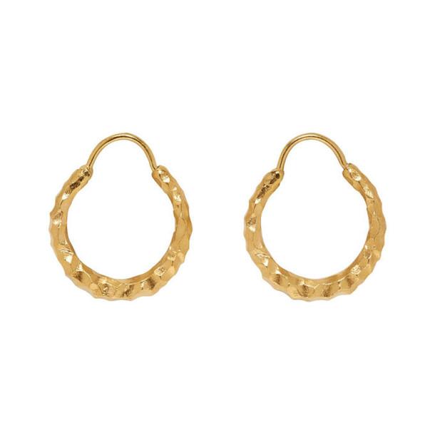 All Blues Gold Baby Snake Earrings