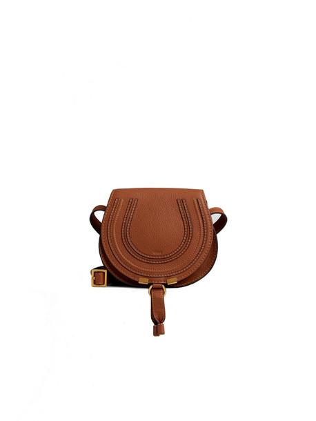 Chloé Chloé Circular Bag With Strap And Pendant Closure/chiusura Pendente in tan