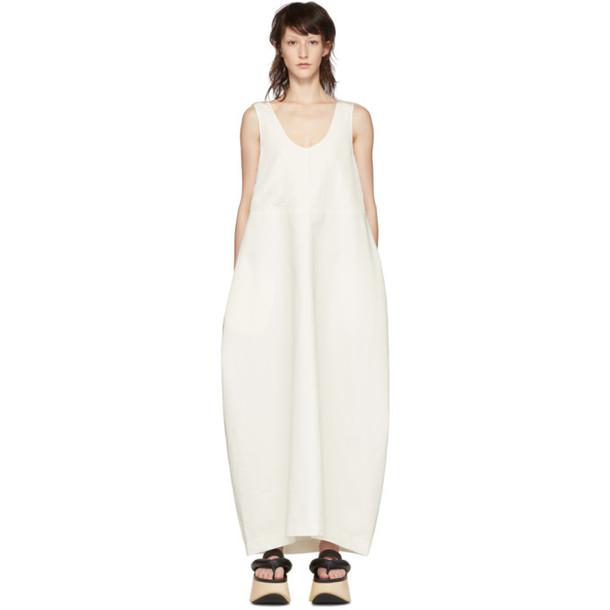 Jil Sander White Sleeveless Long Dress