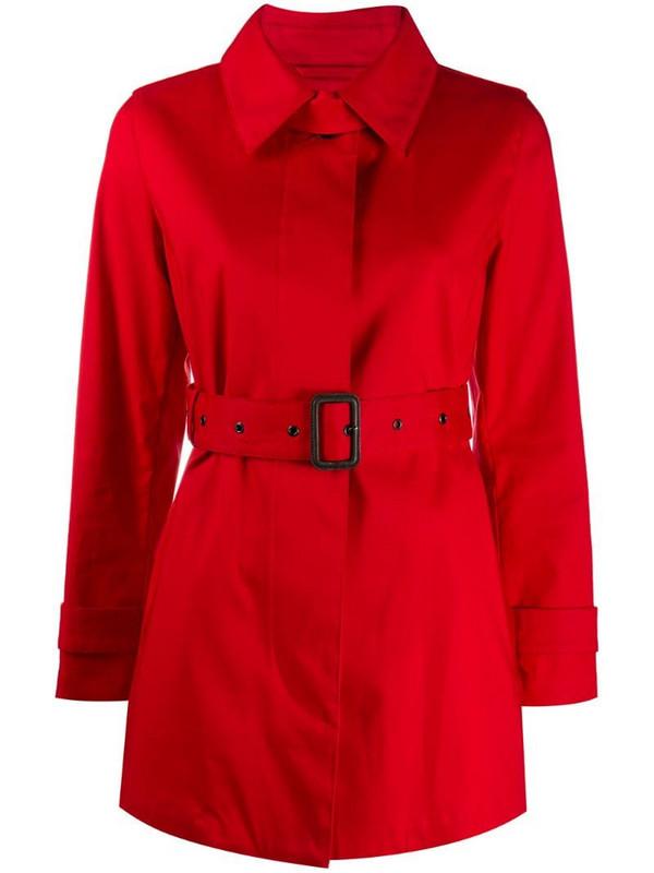 Mackintosh short Roslin trench coat in red