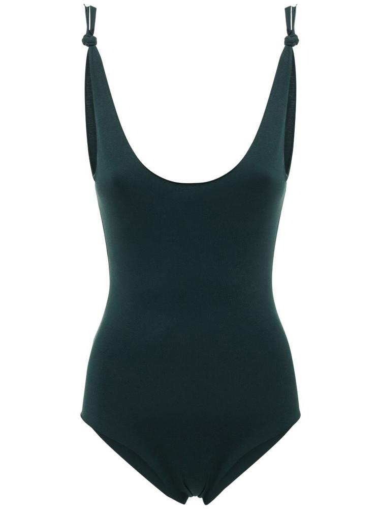 ISOLE & VULCANI Seamless Jersey One Piece Swimsuit in green