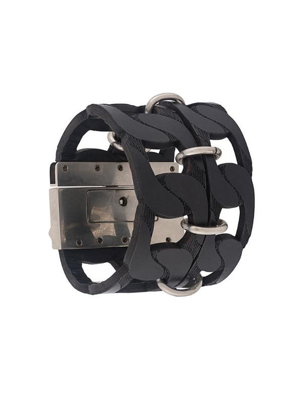 Gianfranco Ferré Pre-Owned 2000s cut-off chain style bracelet in black