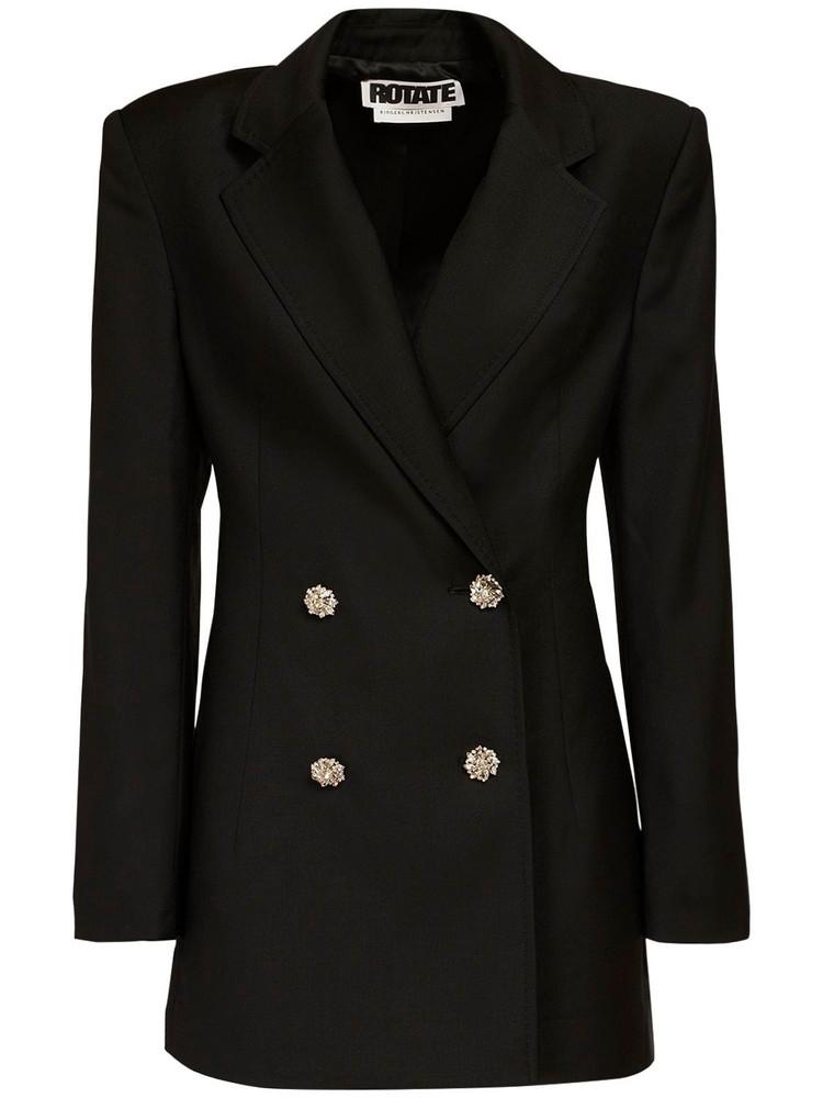 ROTATE Fonda Wool Blend Blazer Dress in black