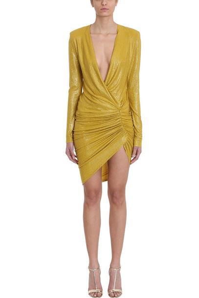 Alexandre Vauthier Crystalized Gold Mini Dress