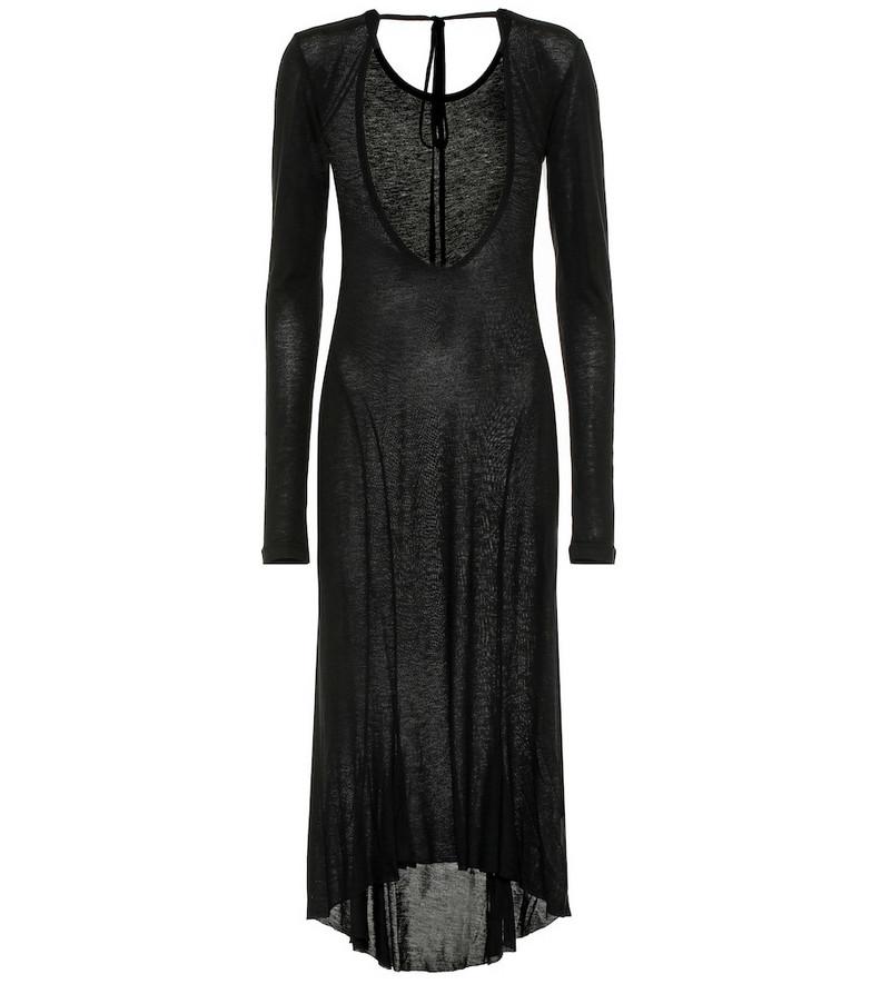 Ann Demeulemeester Fine-knit midi dress in black