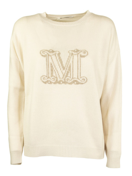 Max Mara Cannes Slim-fit Logo Jumper in cream