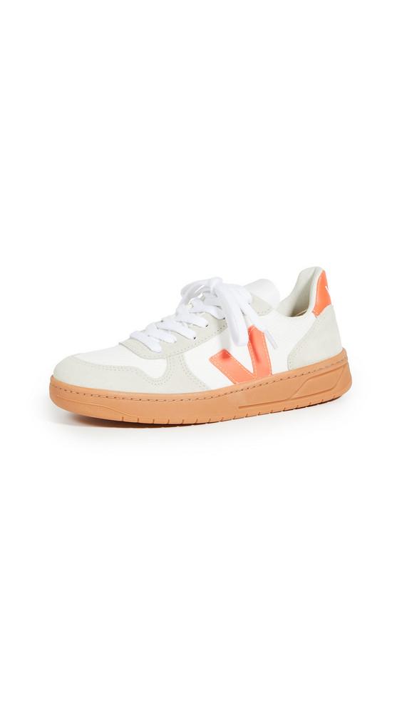 Veja V-10 Sneakers in natural / orange / white