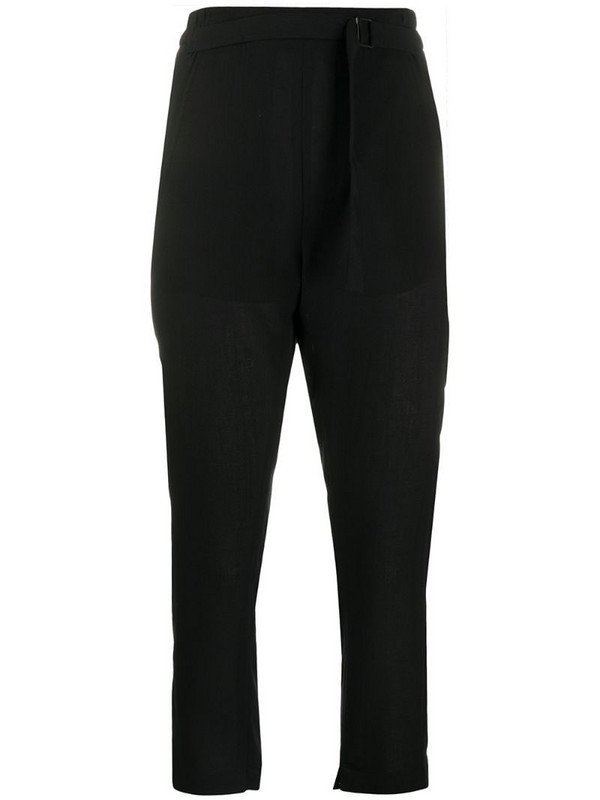 Ann Demeulemeester elasticated waistband cropped trousers in black