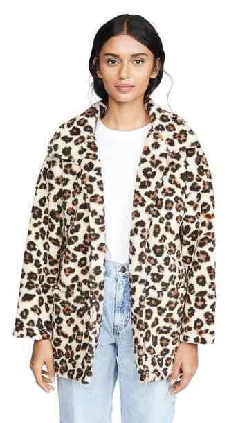 Z Supply The Leopard Sherpa Coat