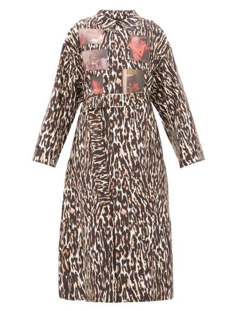 Raf Simons - Animalier Leopard Print Technical Coat - Womens - Leopard