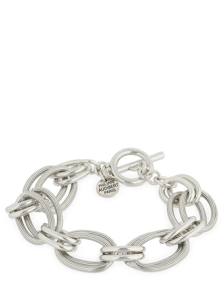 PHILIPPE AUDIBERT Byron Brass Chain Bracelet in silver