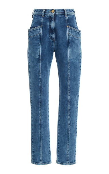 Versace High-Rise Skinny Jeans Size: 25 in blue
