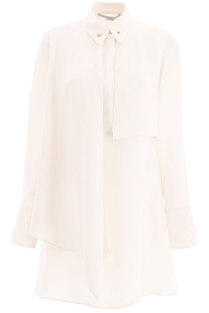 Stella McCartney Mini Shirt Dress in natural / white