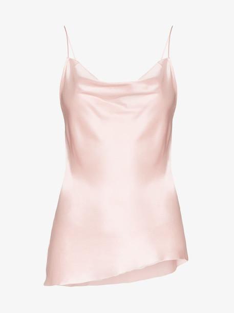 Marques'Almeida cowl neck slip cami top in pink