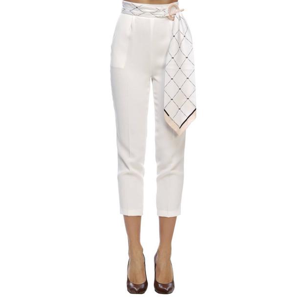 Elisabetta Franchi Celyn B. Elisabetta Franchi Pants Dress Women Elisabetta Franchi in white