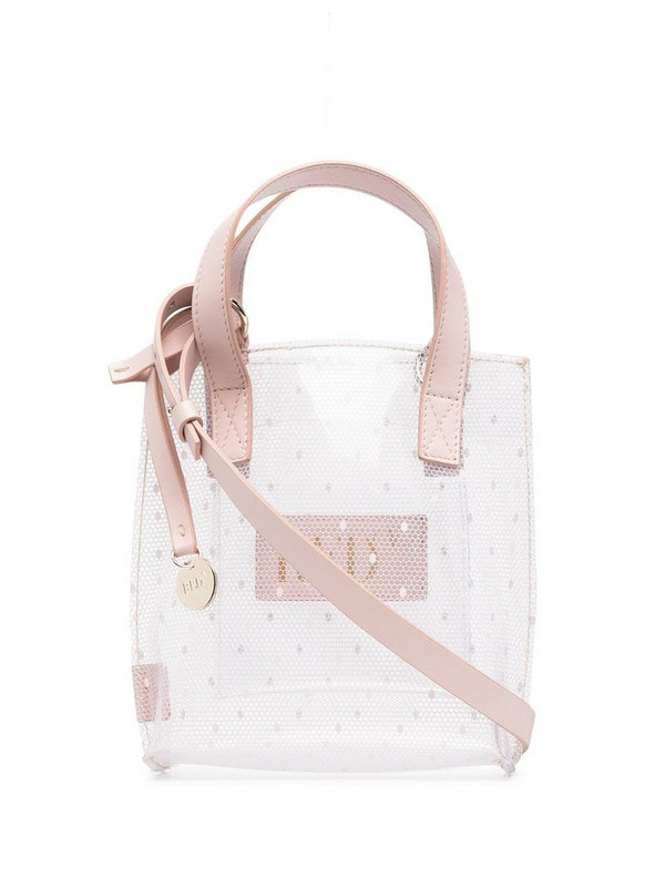 RED Valentino point d'esprit tote bag in pink