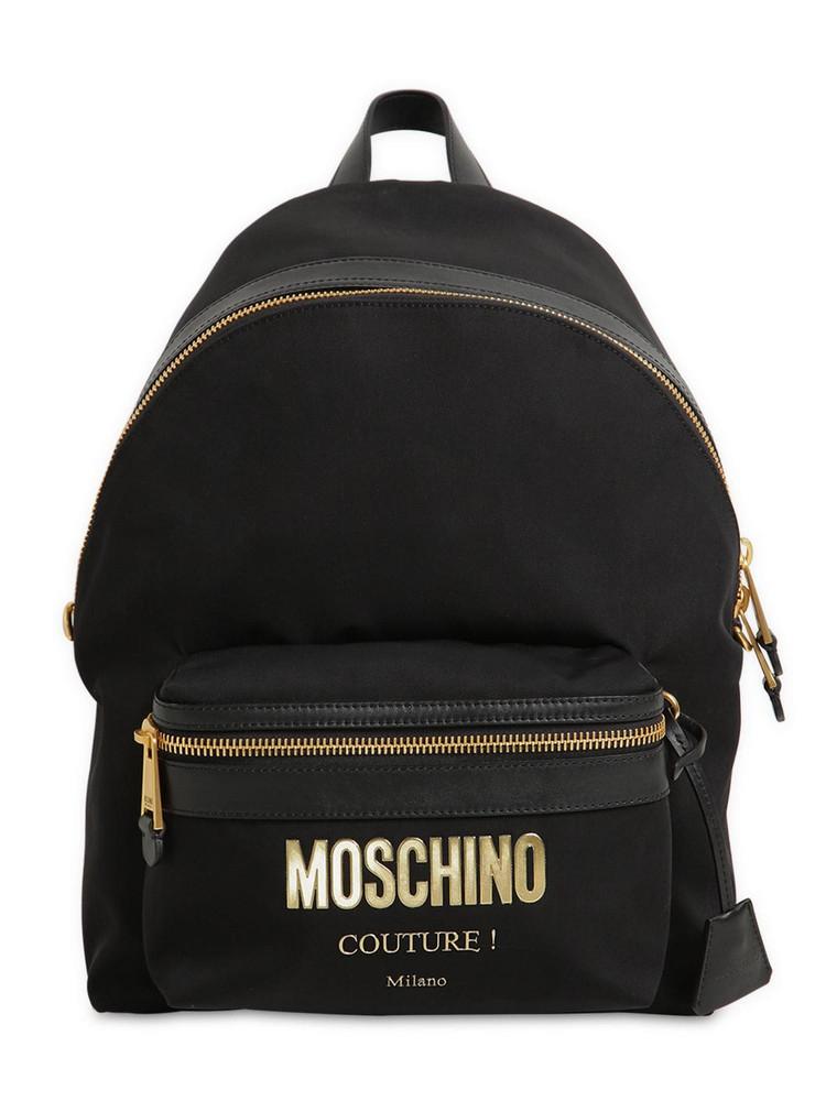 MOSCHINO Medium Couture Logo Nylon Backpack in black