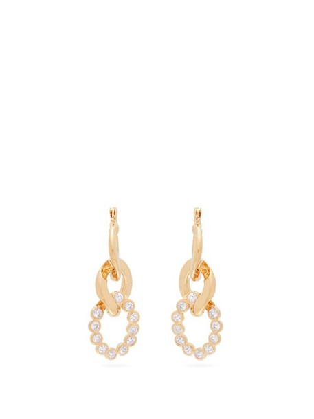 Hillier Bartley - Crystal Curb Link Earrings - Womens - White