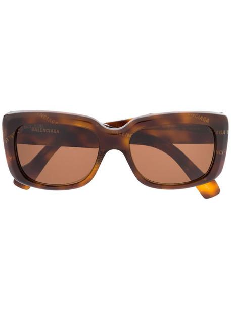 Balenciaga Eyewear Paris square-frame sunglasses in brown