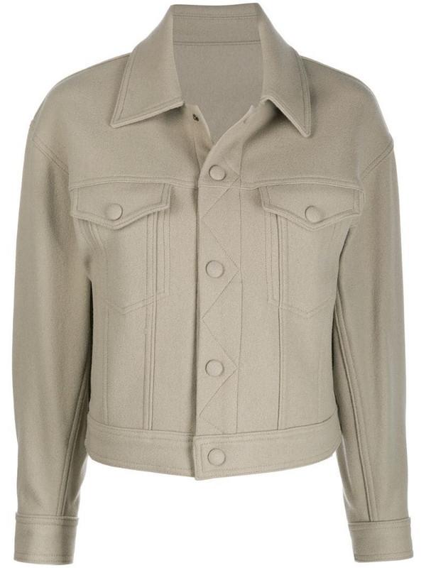 AMI Paris boxy fit jacket in neutrals