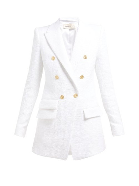 Alexandre Vauthier - Plunge Tailored Cotton Tweed Jacket - Womens - White