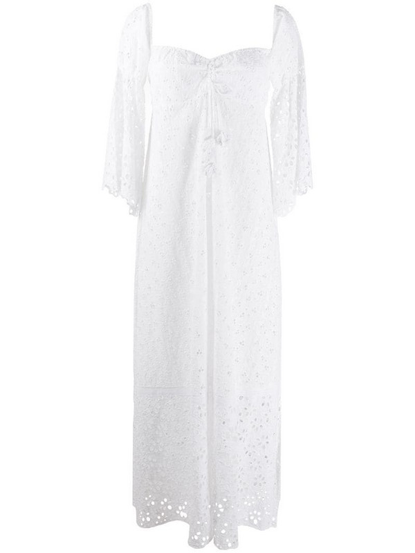 Anjuna broderie anglaise maxi dress in white
