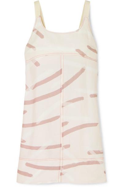 Lee Mathews - Palmas Cutout Printed Twill Mini Dress - Blush