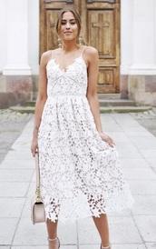 dress,kenza,white dress,lace dress