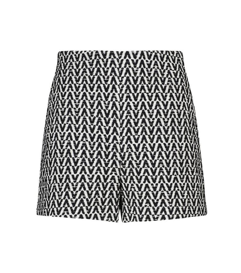Valentino Cotton-blend bouclé shorts in black