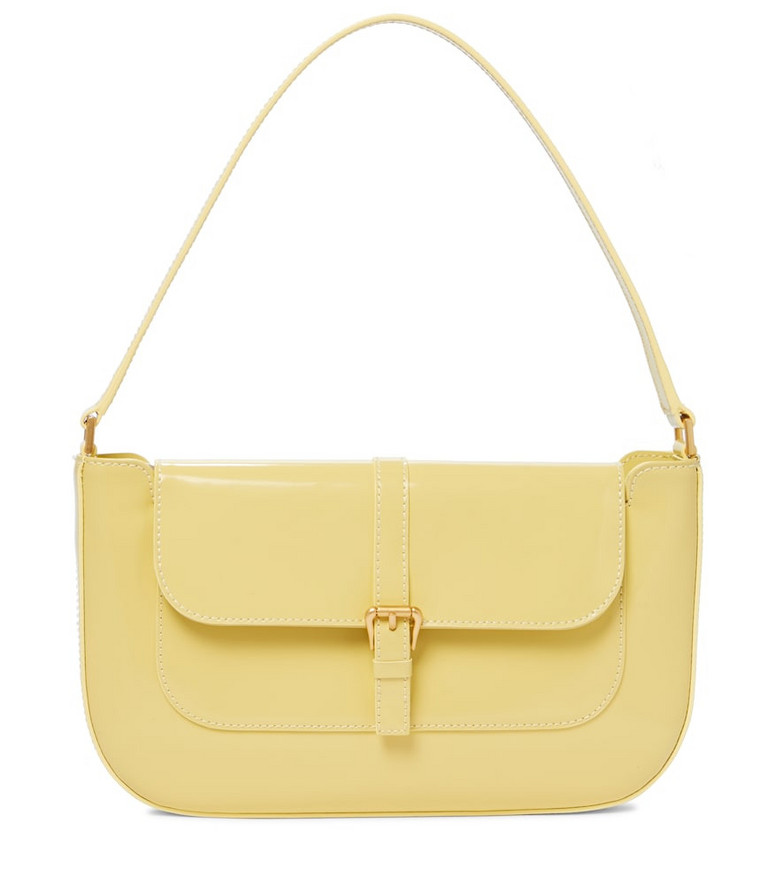 BY FAR Miranda patent leather shoulder bag in yellow