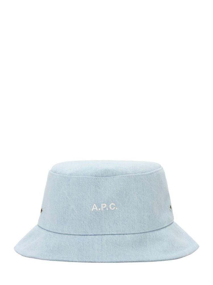 A.P.C. Logo Denim Bucket Hat