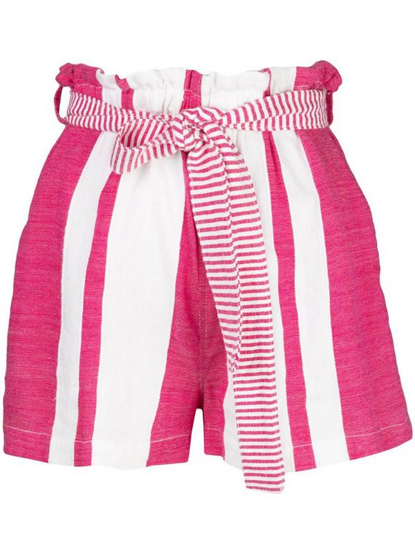 lemlem Zoya high rise shorts in pink