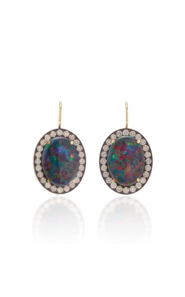 Andrea Fohrman Oval Australian Opal Earrings in multi