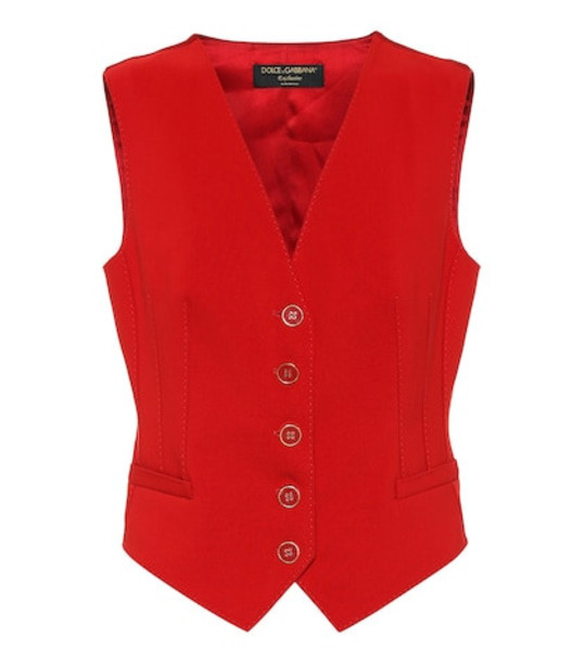 Dolce & Gabbana Exclusive to Mytheresa – cotton and silk-blend vest in red