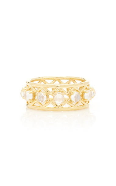ARK Muse 18K Gold Moonstone Ring Size: 6