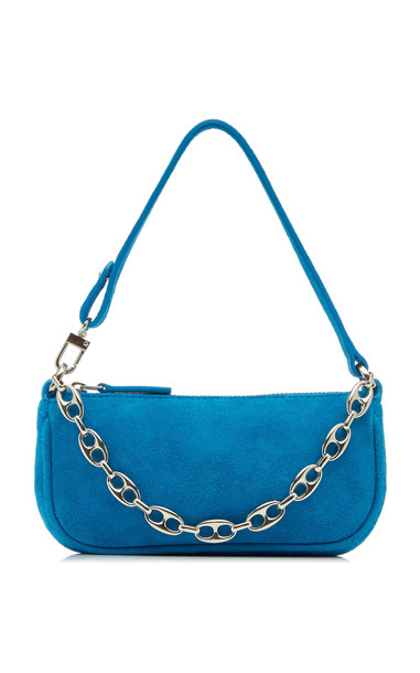 BY FAR Mini Rachel Leather Shoulder Bag in blue