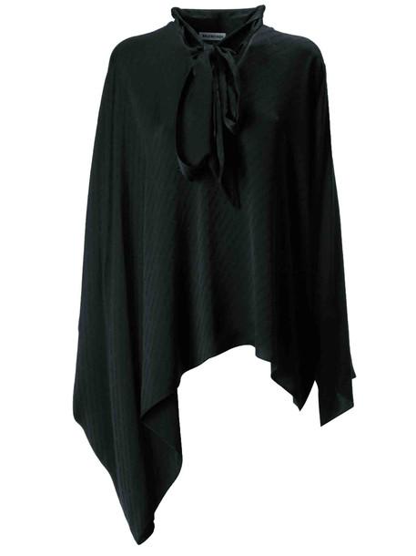 Balenciaga Asymmetric Blouse in black