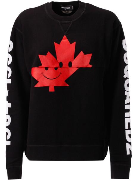 Dsquared2 Logo On Sleeve Sweatshirt in black