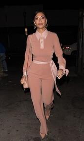 top,nude,blush,blush pink,nicole scherzinger,celebrity,pants