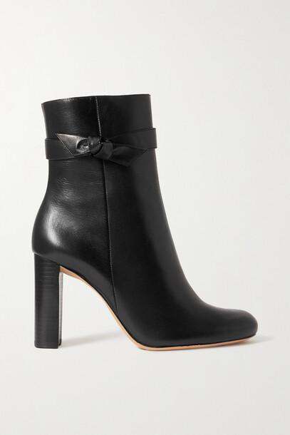 Alexandre Birman - Clarita City Bow-embellished Leather Ankle Boots - Black