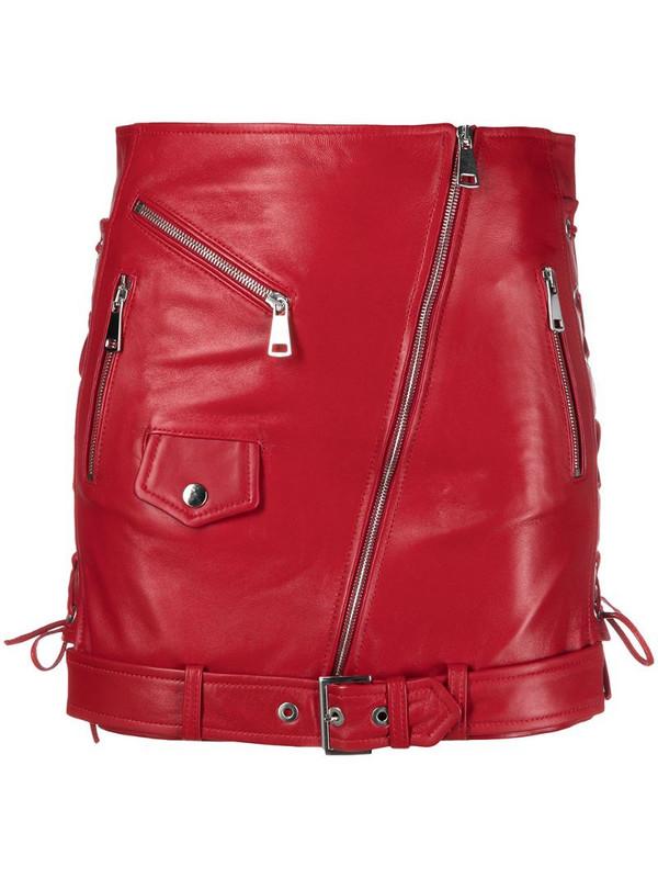 Manokhi Biker mini skirt in red