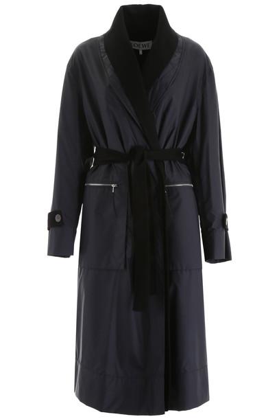 Loewe Double Coat in black / blue