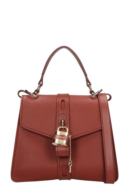 Chloé Chloé Aby Shoulder Bag In Brown Leather