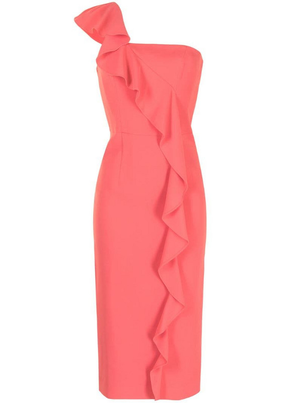 Ginger & Smart Prospective ruffle-trimmed midi dress in pink