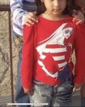 shirt,red,sunglasses,cartoon,long sleeves