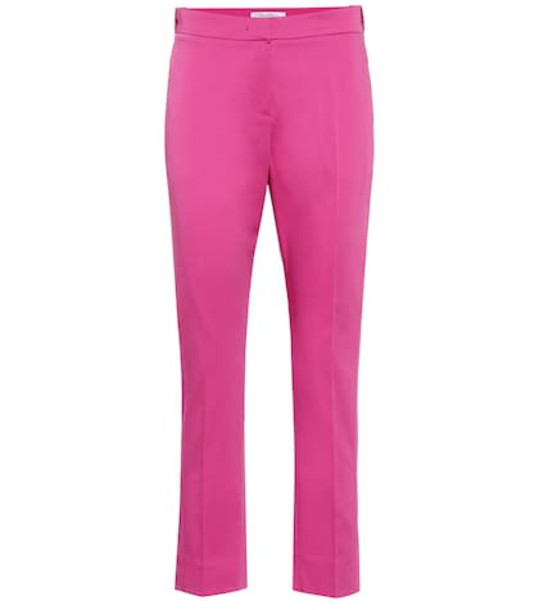 Max Mara Pappy straight cotton pants in pink