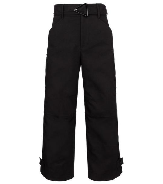 Bottega Veneta Canvas cargo pants in black