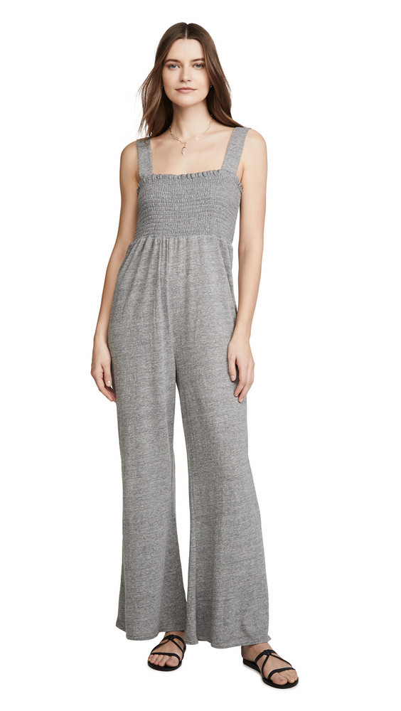 Chaser Smocked Jumpsuit in grey
