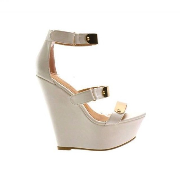 shoes wedges white wedges