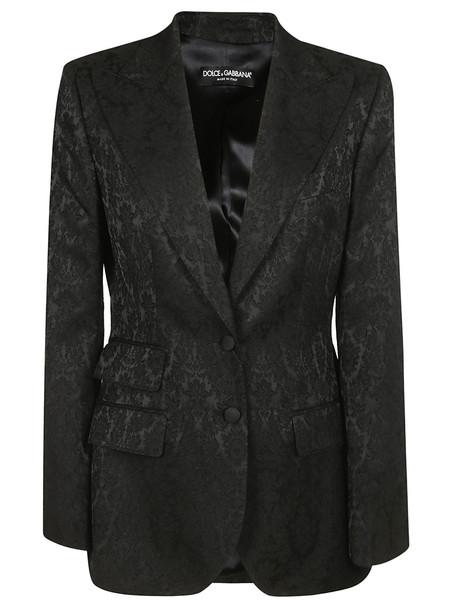 Dolce & Gabbana Jacquard Blazer in black
